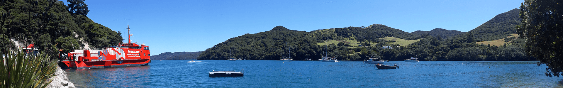 Great Barrier Island coastal panorama