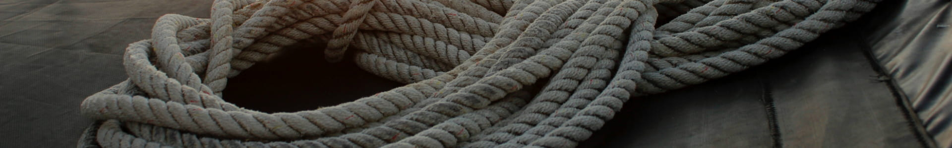 Ropes on a boat deck