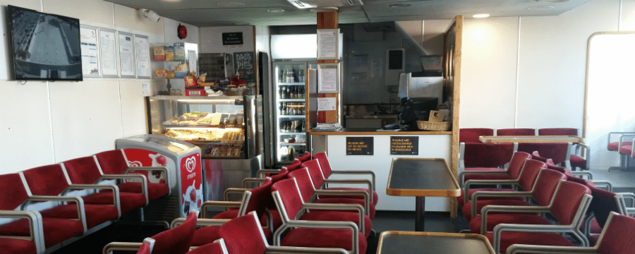 SeaLink ferry the SeaBridge onboard cafe and passenger lounge