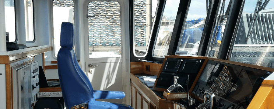 SeaLink ferry the Seabridge wheelhouse