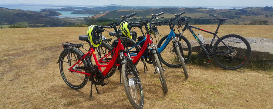 Adventure Capital ebike tour on Trig Hill on Waiheke Island