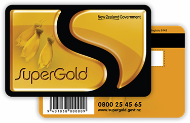 SuperGold Card - sign up at https://supergold.govt.nz/